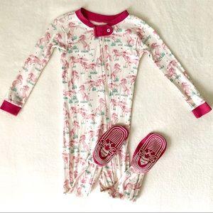 Burt's Bees Baby Unicorn Berry Pink Pajama Footie
